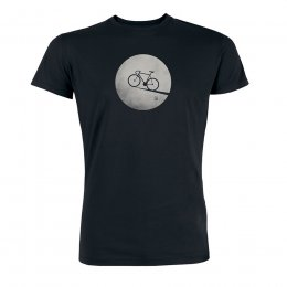 Green Bomb Bike Moon T-Shirt - Black
