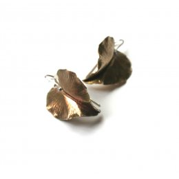 LA Jewellery Angel Wings Recycled Brass Earrings