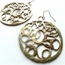 LA Jewellery Turkish Recycled Brass Earrings