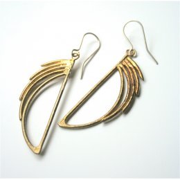 LA Jewellery Frank Lloyd Waterfall Recycled Brass Earrings