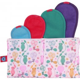 Bloom & Nora Reusable Sanitary Pads Trial Pack - Bloom - Assorted Designs - Pack of 4