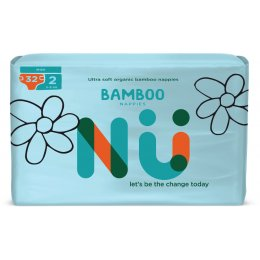 NÜ Disposable Bamboo Nappies - Mini - Size 2 - Pack of 32