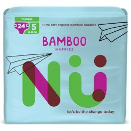 NÜ Disposable Bamboo Nappies - Toddler - Size 5 - Pack of 24