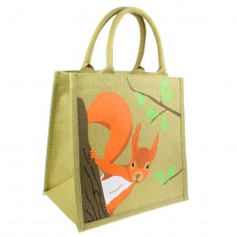 Jute Shopping Bag - Squirrel
