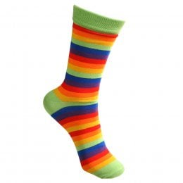 Rainbow Stripe Bamboo Socks - UK7-12