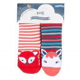 Kite Animal Grippy Socks - 2 Pairs