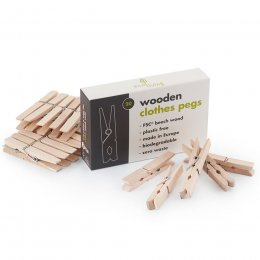 ecoLiving Wooden Clothes Pegs