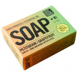 Our Tiny Bees Cold Pressed Soap - Petitgrain & Grapefruit - 140g