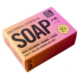 Our Tiny Bees Cold Pressed Soap - Geranium & Lemon - 140g