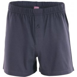 Organic Cotton Ben Boxer Shorts - Navy Graphite