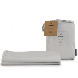 Panda Kids Bamboo White Fitted Cot Sheets - Pack of 2