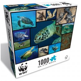 WWF 1000 Piece Puzzle - Marine Turtles