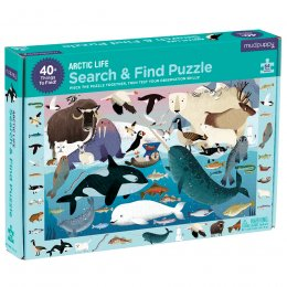 Mudpuppy Arctic Life Search & Find Puzzle - 64 Pieces