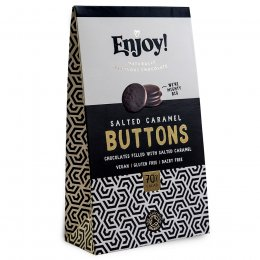 Enjoy Salted Caramel Filled Vegan Chocolate Buttons - 96g