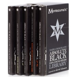Montezumas Absolute Black: 100 percent  Cocoa Library - 100g