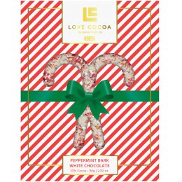 Love Cocoa Limited Edition Peppermint Bark white Chocolate Bar - 75g