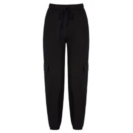 Asquith Bamboo Cargo Pants - Black