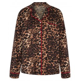 Asquith Bamboo Leopard Print Pyjama Top