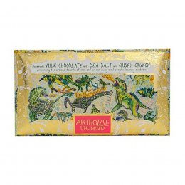 ARTHOUSE Unlimited Dinosaurs Handmade Milk Chocolate with Sea Salt and Crispy Crunch - 100g