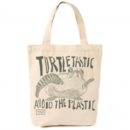 ARTHOUSE Unlimited Turtles Canvas Shopper - Cream & Green