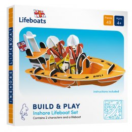 Play Press Toys RNLI On shore Lifeboat Build and Play Set