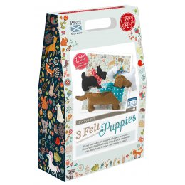 The Crafty Kit Company 3 Felt Puppies Sewing Kit