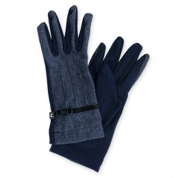 Navy Wool Gloves