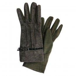 Green Wool Gloves