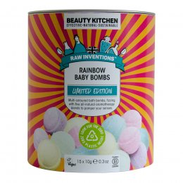 Beauty Kitchen Raw Inventions Limited Edition Rainbow Baby Bombs - 15x10g