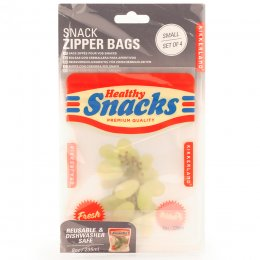 Small Snack Zip Bags - Set of 4