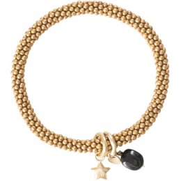 A Beautiful Story Jacky Black Onyx Star Gold Bracelet