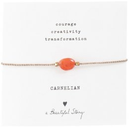 A Beautiful Story Gemstone Card Carnelian Bracelet