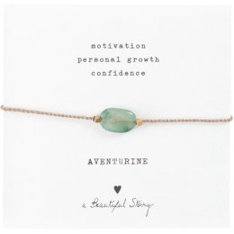 A Beautiful Story Gemstone Card Adventurine Bracelet