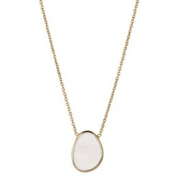 A Beautiful Story Tender Moonstone Silver Gold-Plated Necklace