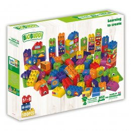 BiOBUDDi Learning to Create Eco Blocks - 100 Pieces