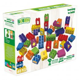 BiOBUDDi Learning to Build Eco Blocks - 40 Pieces