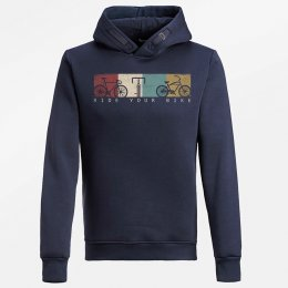 Green Bomb Bike Ride Hoodie - Navy