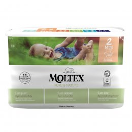 Moltex Pure & Nature Disposable Nappies - Mini - Size 2 - Pack of 38