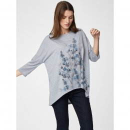 Thought Grey Marle Printed Shandor Top