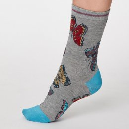 Thought Mid Grey Marl Insetto Bamboo Socks - UK4-7