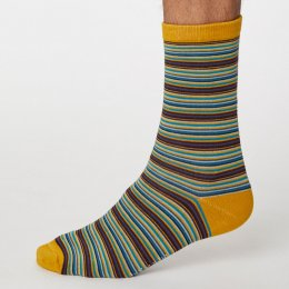 Thought Mustard Michele Stripe Bamboo Socks - UK7-11