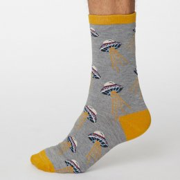 Thought Mid Grey Marle Galassia Bamboo Socks - UK7-11