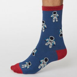 Thought Denim Blue Galassia Bamboo Socks - UK7-11
