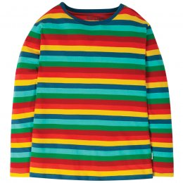 Frugi Grown Ups Favourite Long Sleeve Rainbow Tee