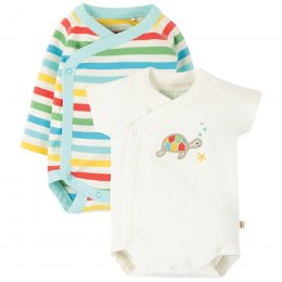 Frugi Shay Rainbow Baby Body - Pack of 2