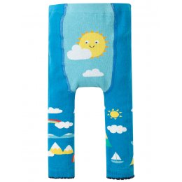 Frugi Fun Bright Sky Knitted Leggings