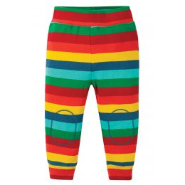 Frugi Steely Blue Stripe Favourite Cuffed Leggings