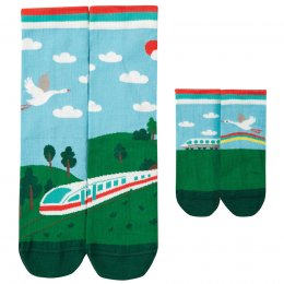 Frugi Train Me and You Matching Socks