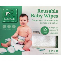 Tots Bots Reusable Wipes - Pack of 10