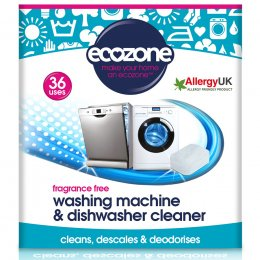Ecozone Washing Machine & Dishwasher Cleaner - Fragrance Free - 36 Tablets